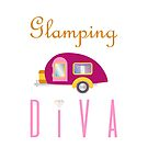 Glamping Diva Camping in Style (Pink Camper)  by JanusianGallery