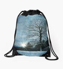 New Blue Sunrise Drawstring Bag