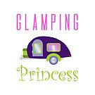 Glamping Princess Camping in Style (Purple Camper) by JanusianGallery