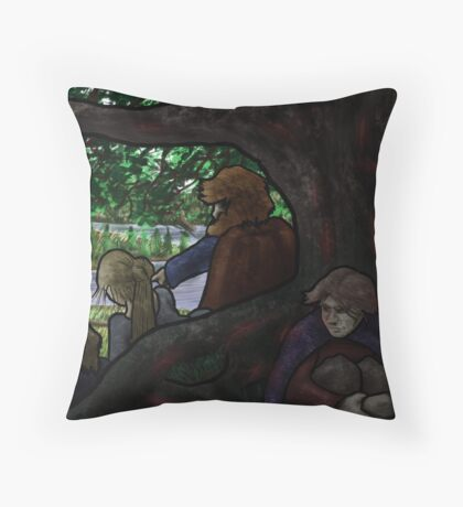 Norse Midsummer: People Watching Throw Pillow