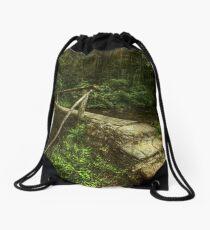 One Lane Bridge Drawstring Bag