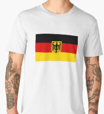 GERMANY, GERMAN, FLAG, Coat of arms of Germany, Common unofficial flag variant Men's Premium T-Shirt