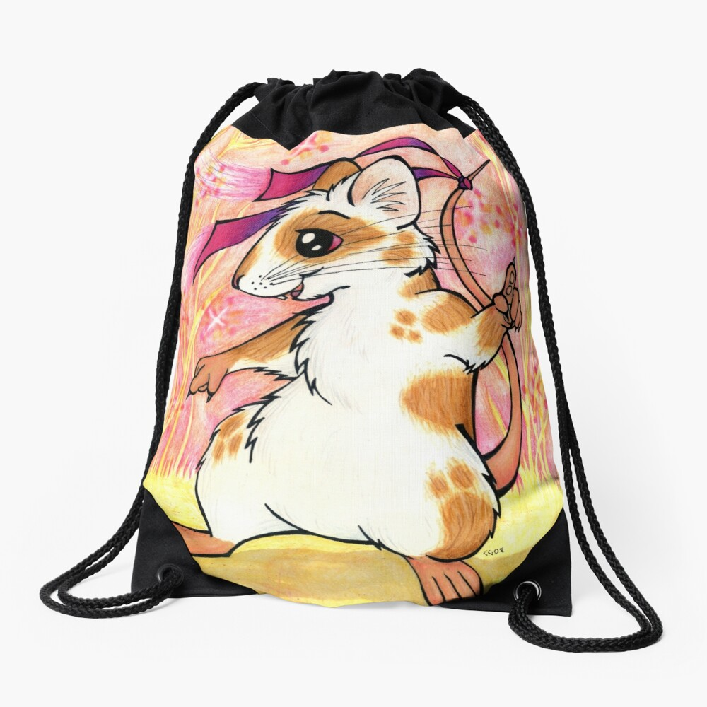 Boogie Mouse - Partying in the Field! Drawstring Bag