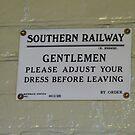 Notice In Gentlemen`s Toilet, Alresford Station,  by LumixFZ28