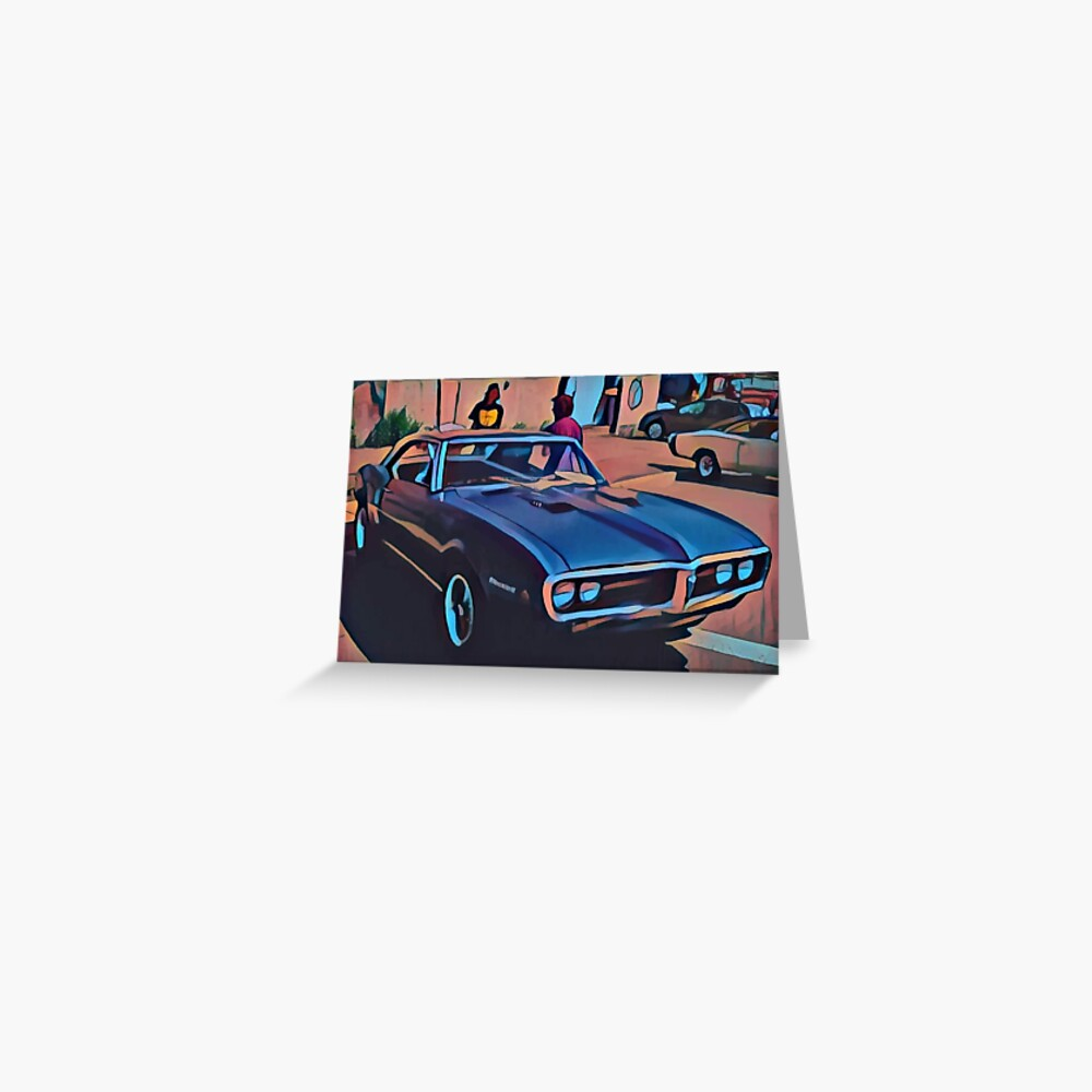1968 Pontiac Firebird Greeting Card