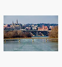 Georgetown, Frozen in January Photographic Print