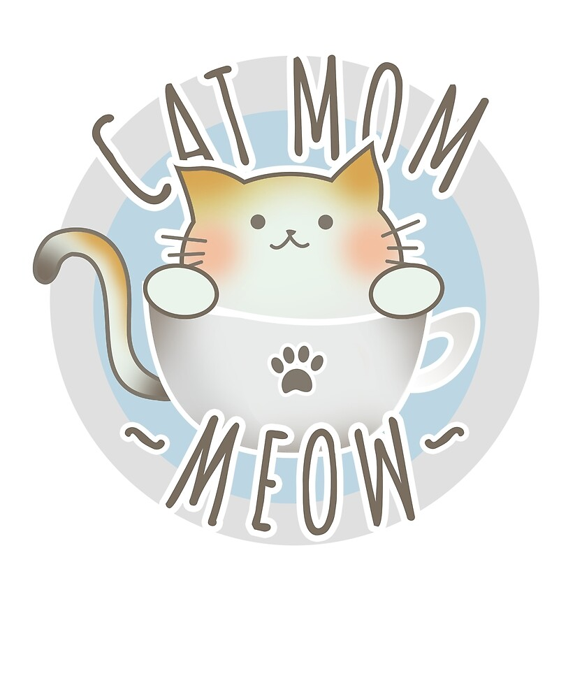 Cute Cat Mom T-Shirt by yanbirog