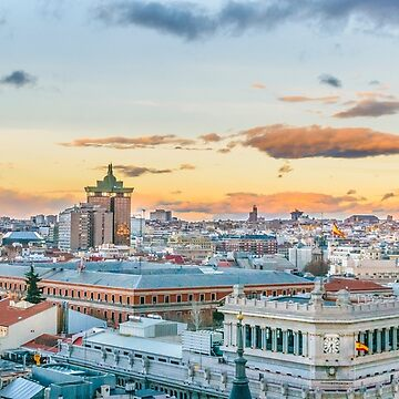 Aerial View Madrid Cityscape by DFLCreative