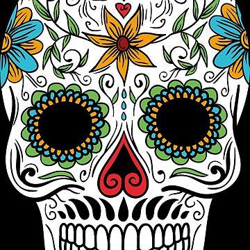 Sugar Skull Candy Day Of The Dead Día De Muertos Mexico by LightningDes