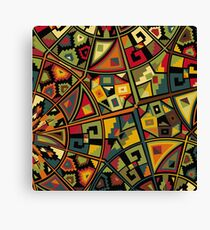 African Traditional Fabric Design Canvas Print