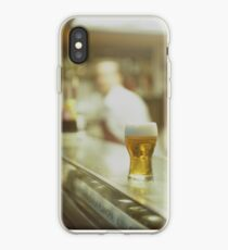 Glass of beer in Spanish tapas bar square Hasselblad medium format  c41 color film analogue photograph iPhone Case