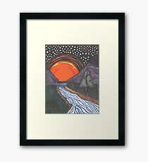 Starry Sunrise Over the Mountains Framed Print