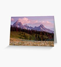 The Grand, Teewinot, and Mt. Owen... the Tetons Greeting Card
