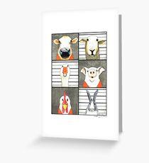 The Farmyard Gang got caught Greeting Card