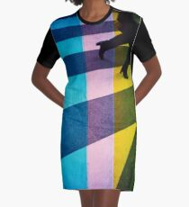 35mm analog film darkroom photo woman crossing street Graphic T-Shirt Dress