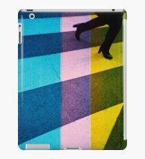 35mm analog film darkroom photo woman crossing street iPad Case/Skin