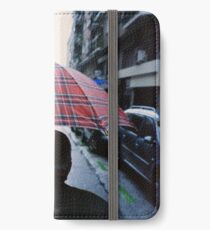 35mm c41 analog film darkroom photo old man in street iPhone Wallet/Case/Skin