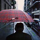 35mm c41 analog film darkroom photo old man in street by edwardolive