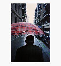 35mm c41 analog film darkroom photo old man in street Photographic Print