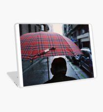 35mm c41 analog film darkroom photo old man in street Laptop Skin