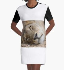 The Stare Graphic T-Shirt Dress