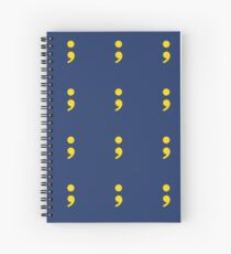 Simple Semi-Colon in Yellow Spiral Notebook