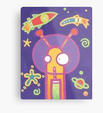 Space Alien Worm Juice Metal Print