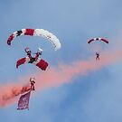 Royal Airforce Red Devils Sky Divers....... by lynn carter