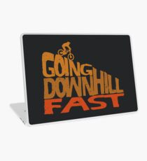 MTB, Cycling, Mountain Bike and Downhill T-shirt Laptop Skin