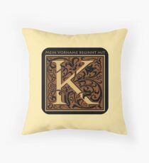 First name with K Throw Pillow