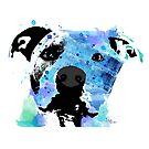 pit bull watercolor pet portrait    Sadie by freeinthelines