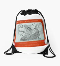 Etch-a-Sketch = Photo-Shop (in the good old days....) Drawstring Bag