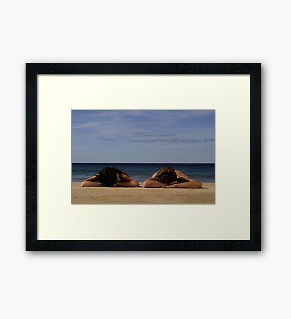 In Homage To Max Dupain - 'Sunbathers #1' Framed Print