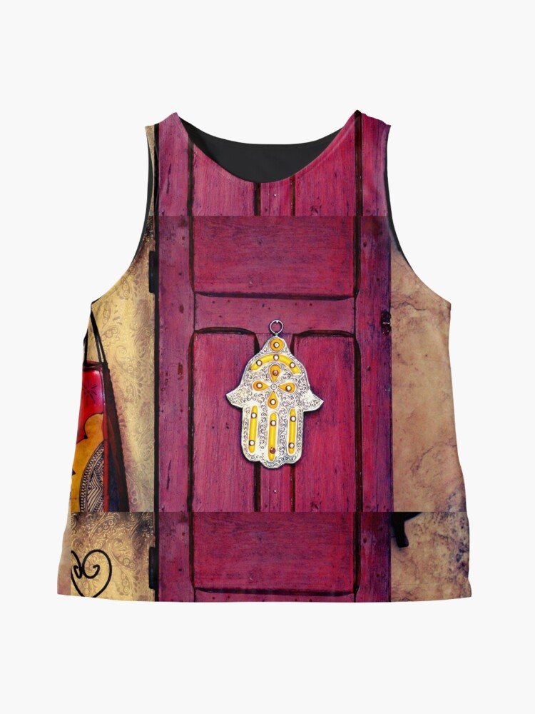 Alternate view of HAMSA, Hand of Fatima,  Sleeveless Top