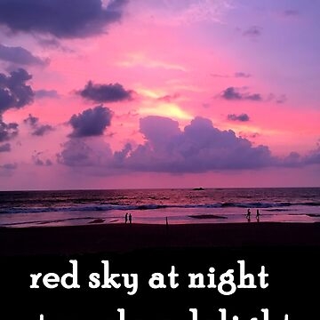 red sky travelers delight by happyTshirt