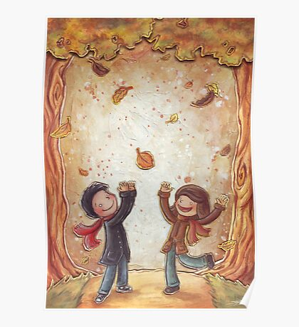 Catching Leaves Poster