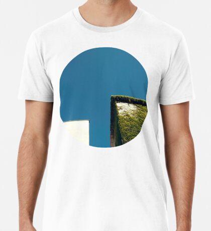 Weißes Quadrat, grünes Quadrat, blauer Himmel Premium T-Shirt