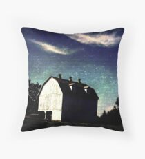 MIDNIGHT BARN Throw Pillow