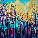 Yellow Trees in Summer by Alison Newth