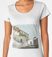 Taking a Break in Caceres Women's Premium T-Shirt