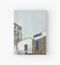 Taking a Break in Caceres Hardcover Journal