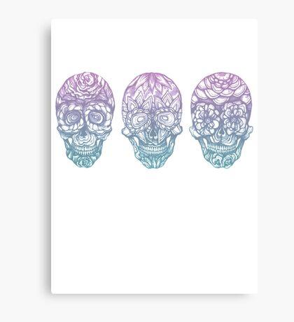 Candy Skulls Canvas Print