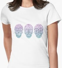 Candy Skulls Women's Fitted T-Shirt