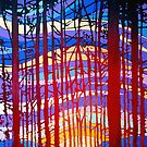 Sunset Through the Trees by Alison Newth