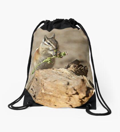 A feast fit for a chipmunk Drawstring Bag
