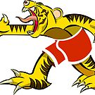 Slashing tiger  by markdalderup