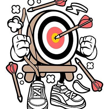 Archery Target Cartoon by wearitout