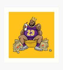 The Burger King Art Print