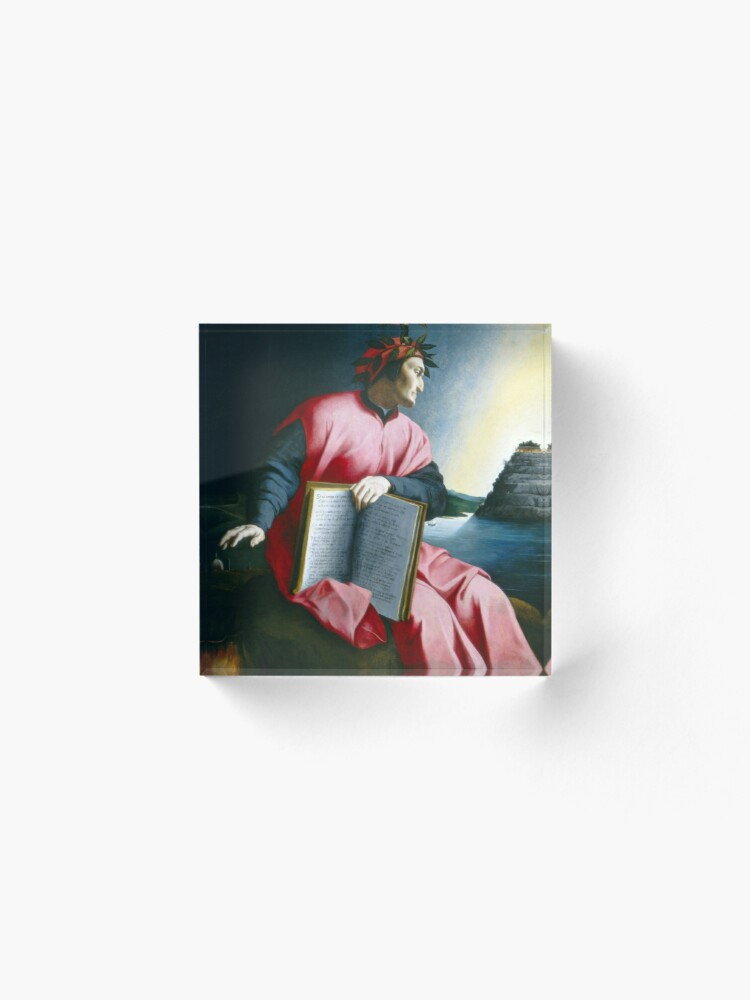 Alternate view of Allegorical Portrait of Dante Acrylic Block