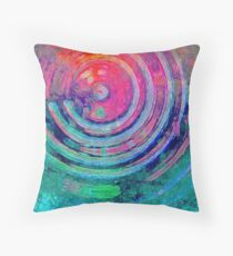 Urban Blue Throw Pillow